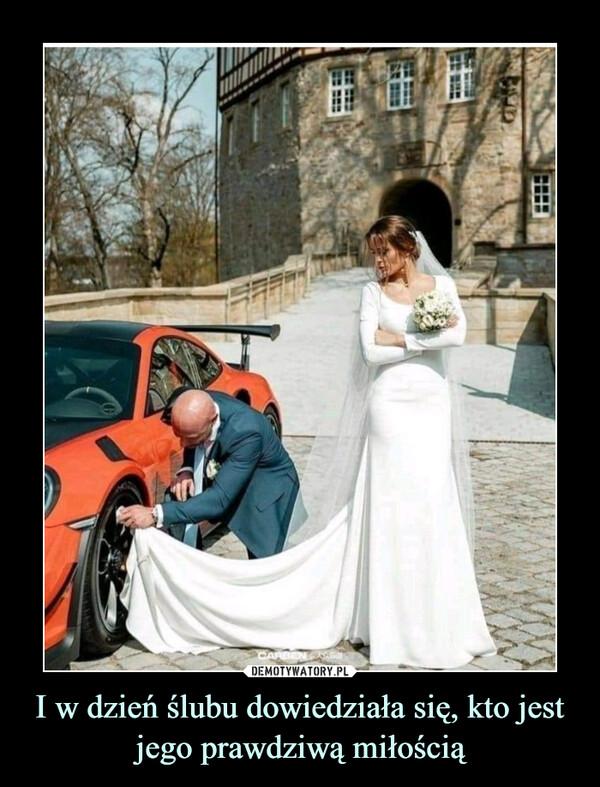 I w dzień ślubu dowiedziała się, kto jest jego prawdziwą miłością –